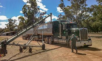 auger-green-truck